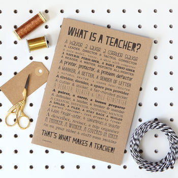 Teacher Poem Slim Notebook