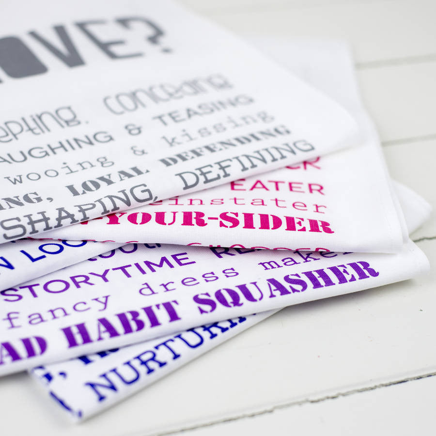 Poem Tea Towels