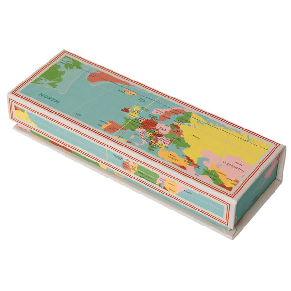 Magnetic World Map Pencil Case