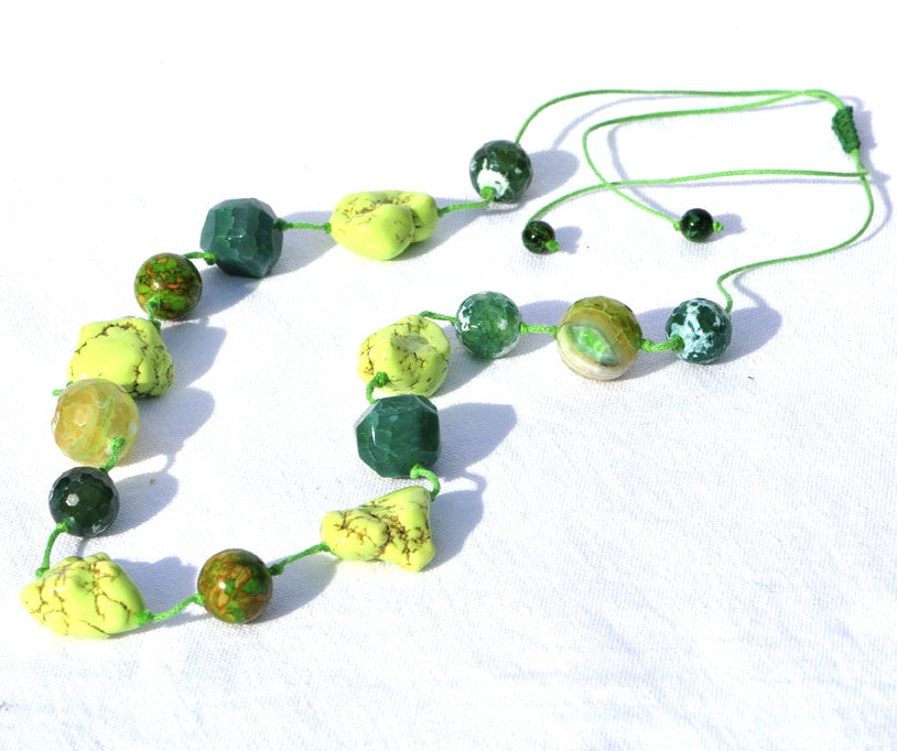 Semi-Precious Knotted Necklace