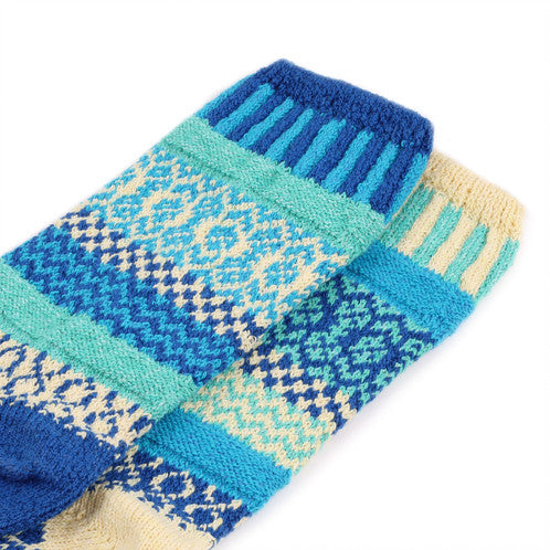 Mismatched Knitted Socks (Zephyr)