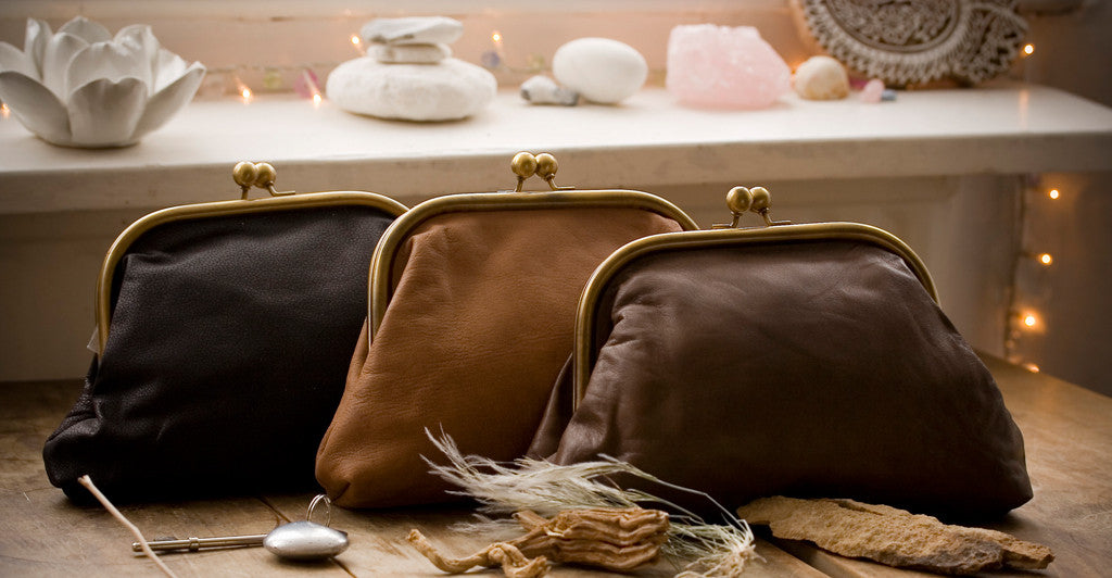 Large Leather Clutch Bags