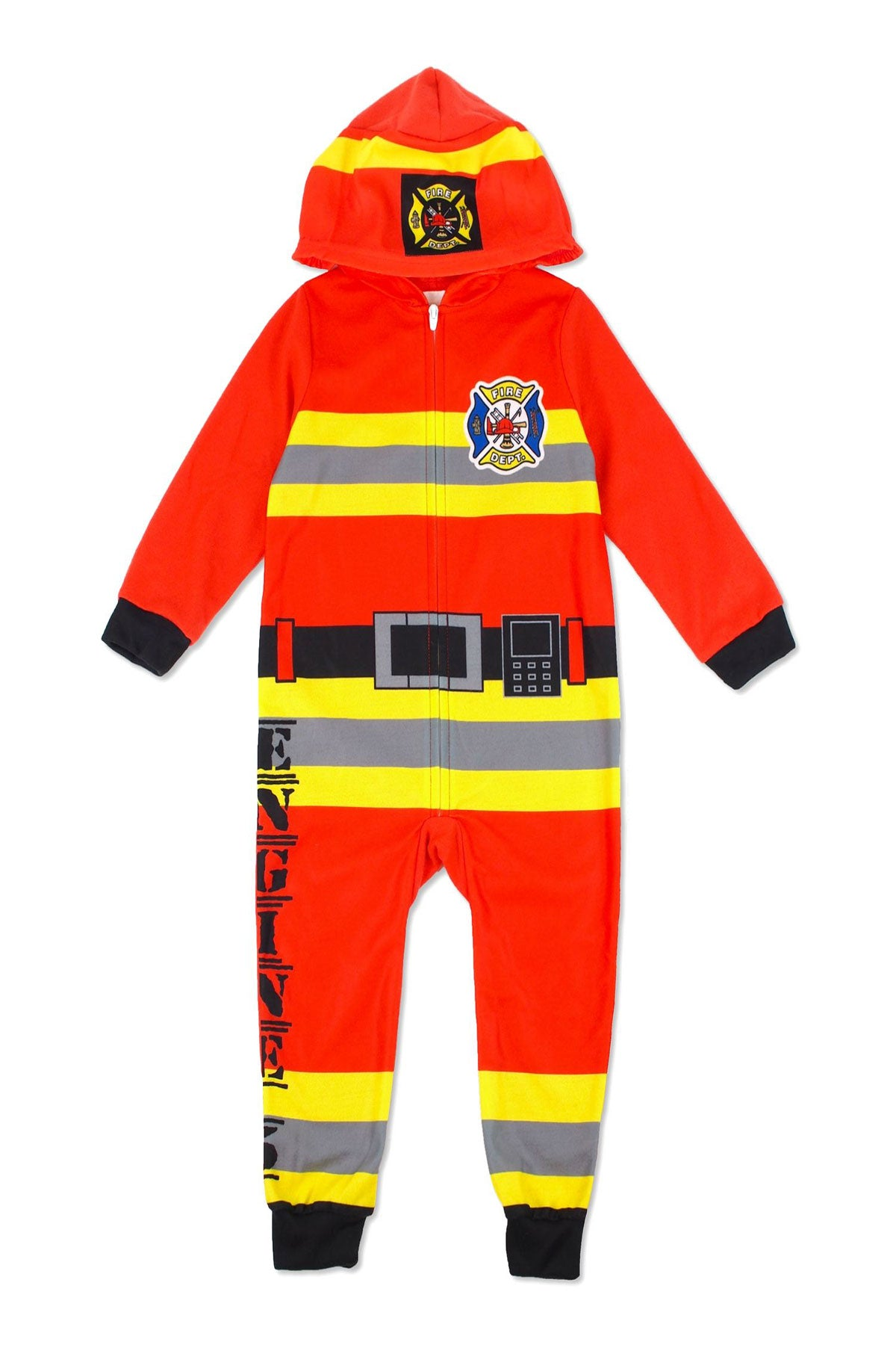 Sleepimini Boys Firefighter Hooded Blanket Sleeper, Red