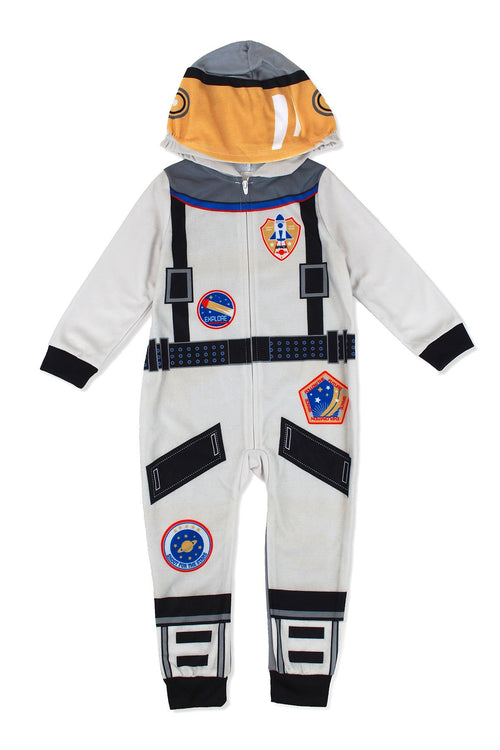 Sleepimini Boys Astronaut Hooded Blanket Sleeper, Grey
