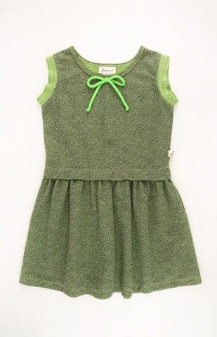 Rolled Up Sleeve Knit Dress, GREEN