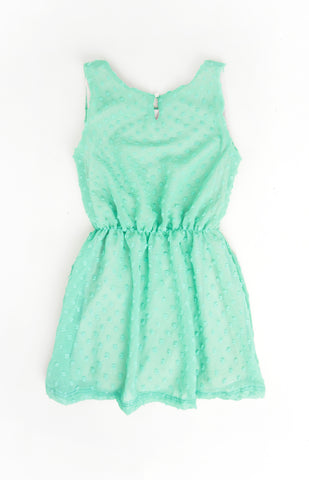 Chiffon Dress, AQUA
