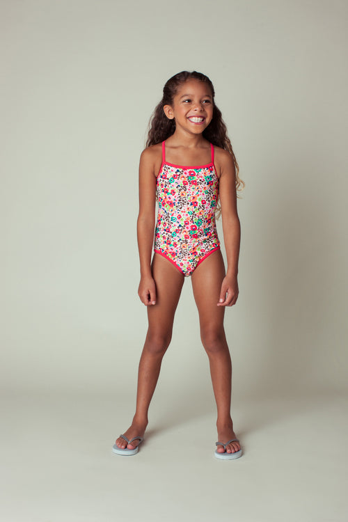 Floral Bouquet One-piece, peach