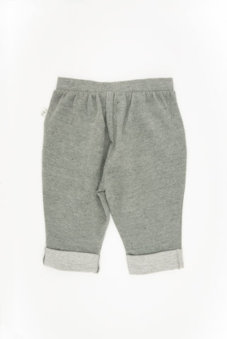 Rolled Up Slouchy Pants, CHARCOAL