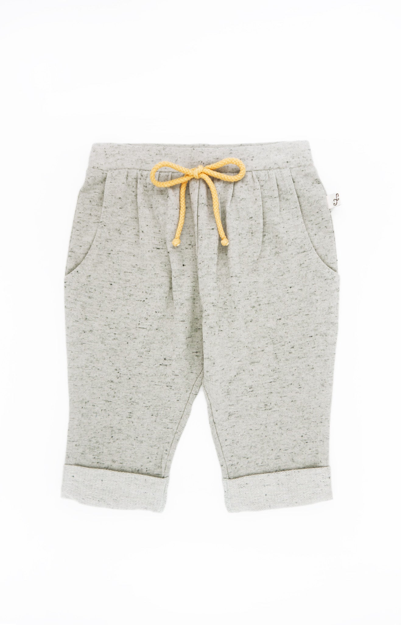 Rolled Up Slouchy Pants, GREY