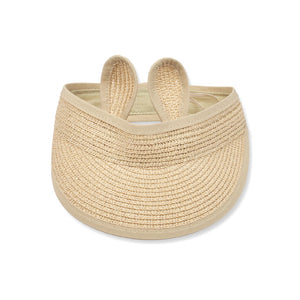 Packable Straw Sun Visor, light natural