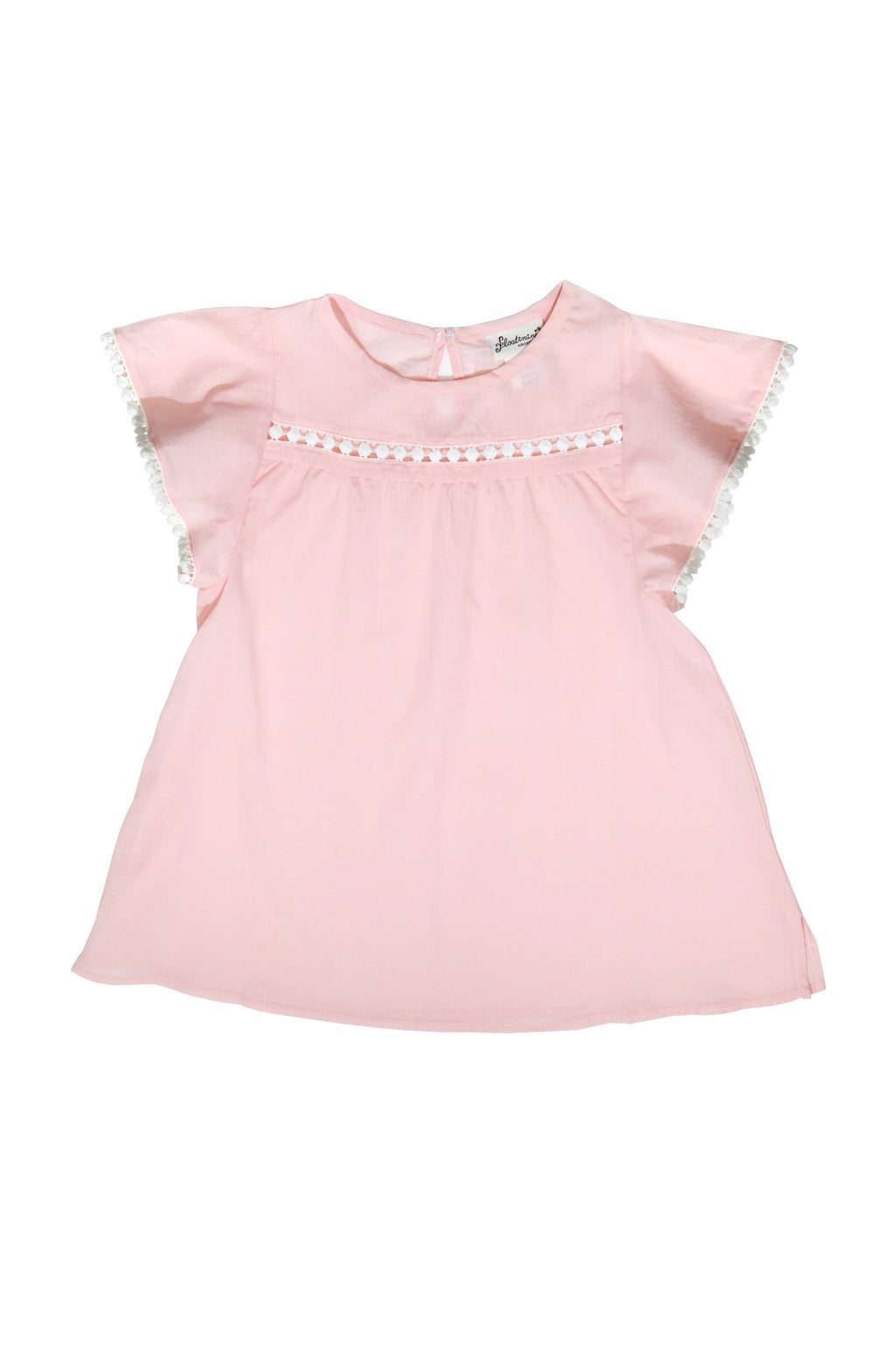 Angel Sleeve Keyhole Back Cover-up Dress, Pink