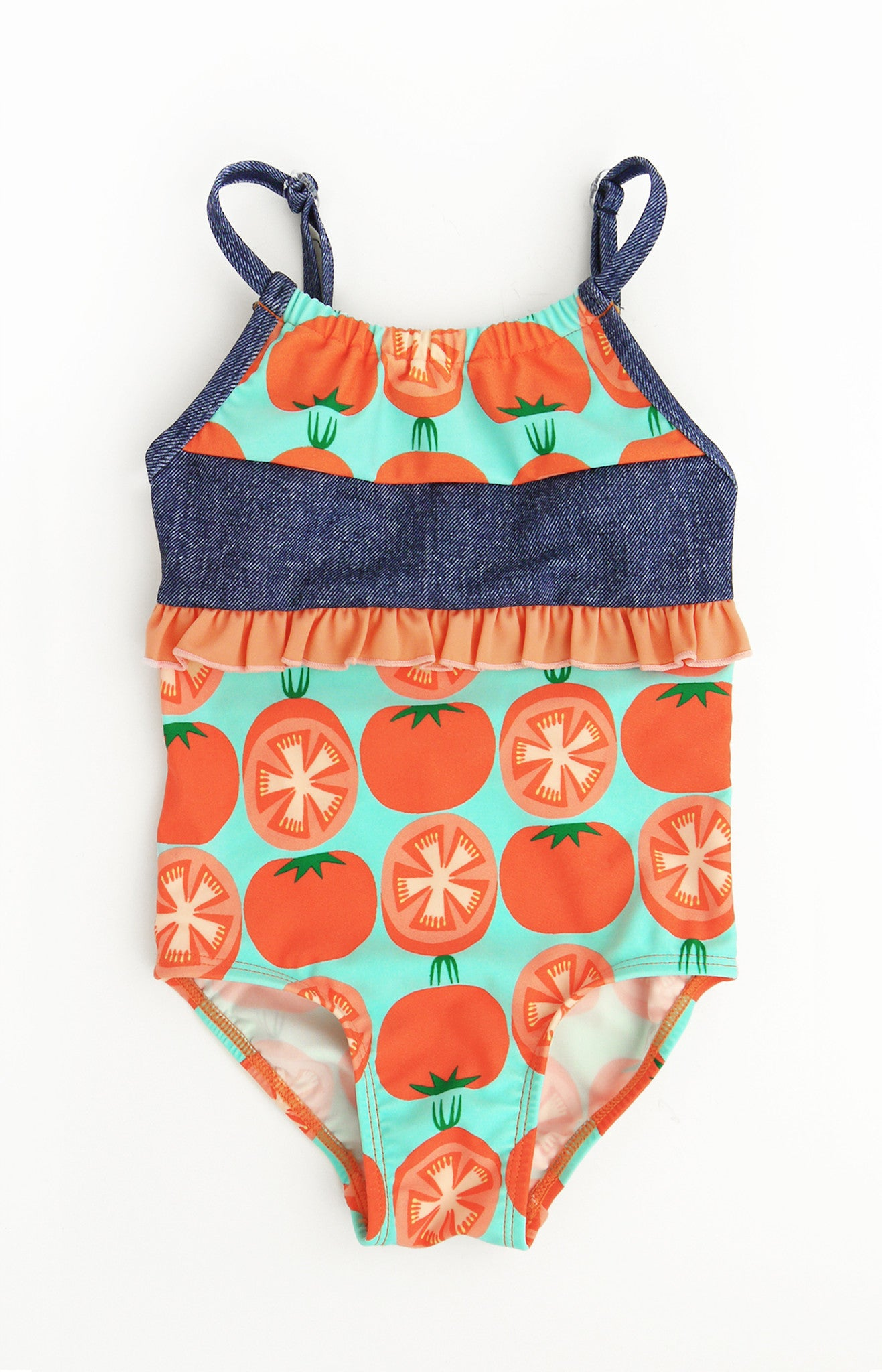 Tomato One-Piece, ORANGE