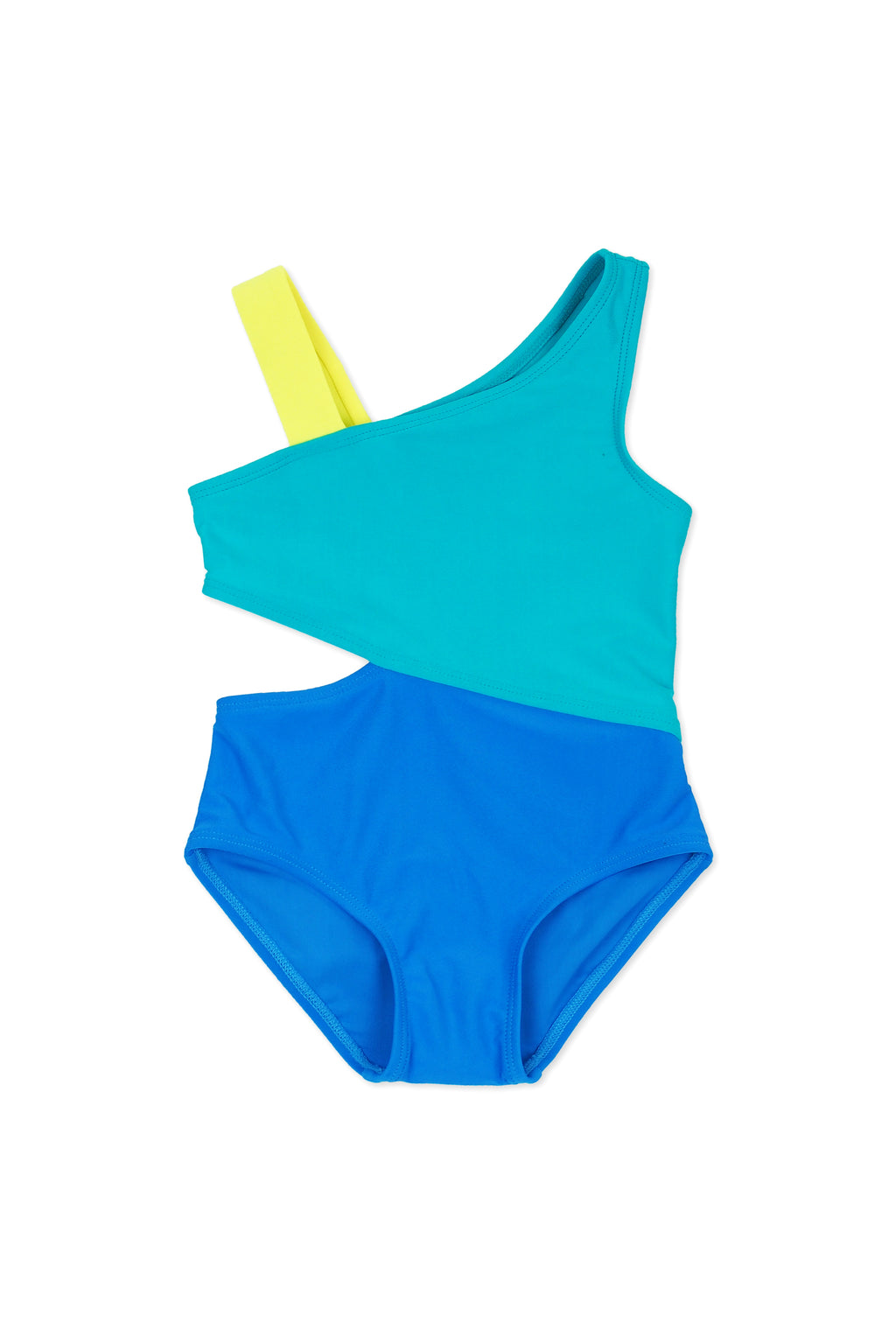 Color-block Cutout One-piece