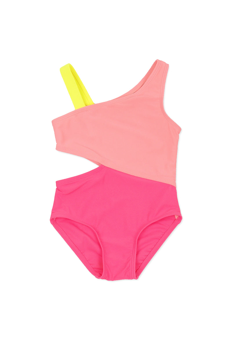Copy of Color-block Cutout One-piece