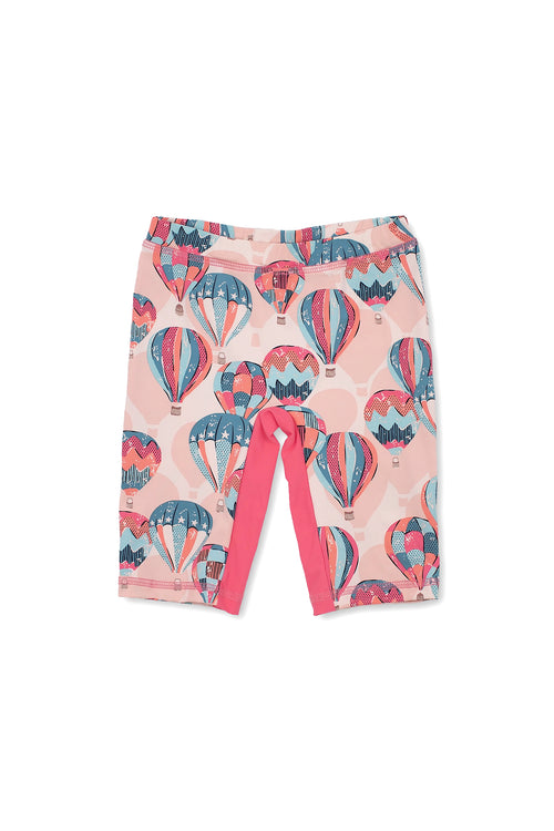 Hot Air Balloons Capri Swim Leggings, peach