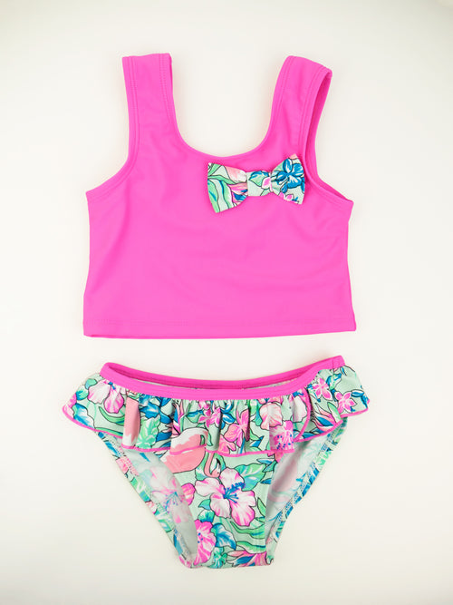 Flamingo Tankini Set, fuchsia