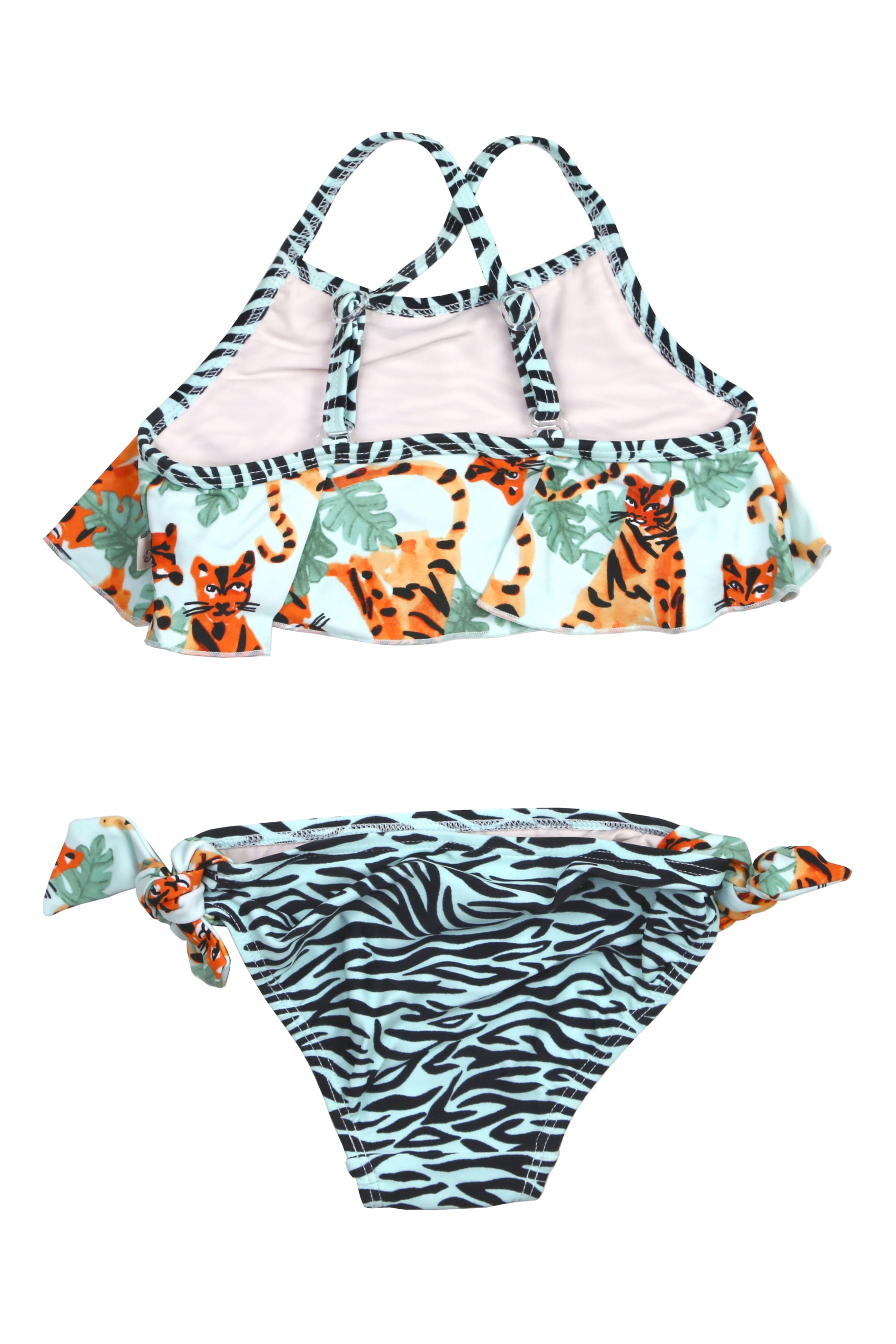 Jungle Tiger Flounce Bikini Set, mint