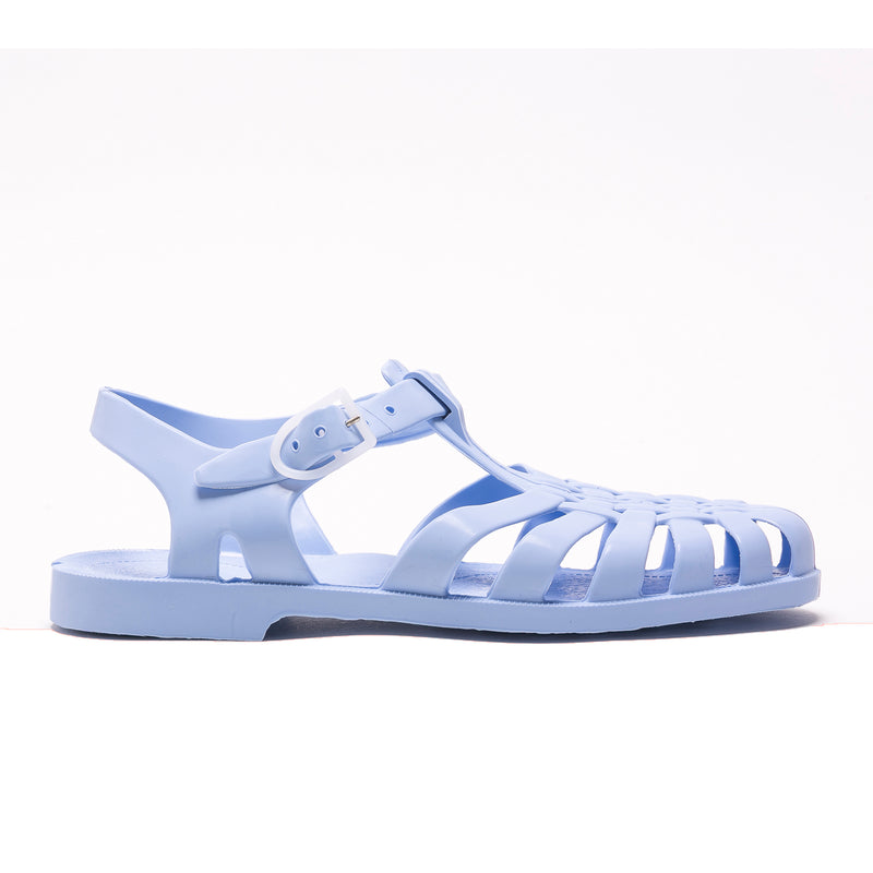 Jelly Beach Sandals, Pastel Blue