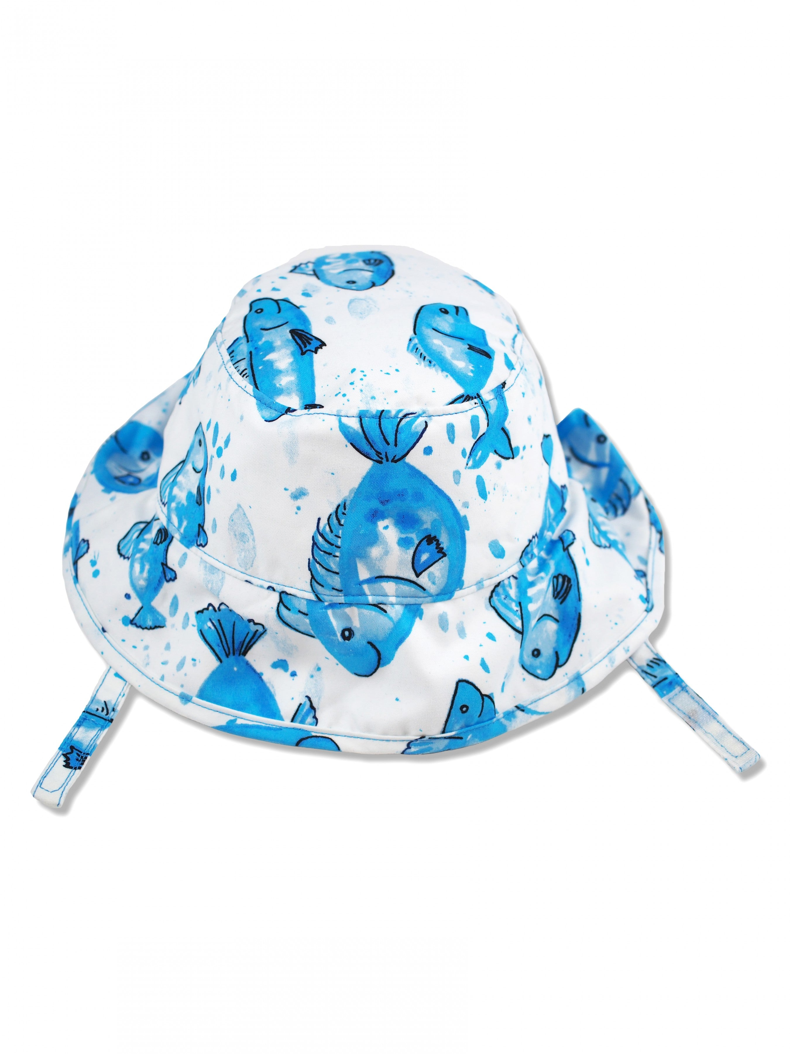 Fish Wish Sun Protective Bucket Hat, Blue