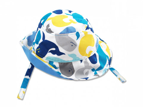 Sea Animals Sun Protective Bucket Hat, Blue