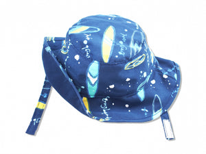Surfboard Sun Protective Bucket Hat, Navy