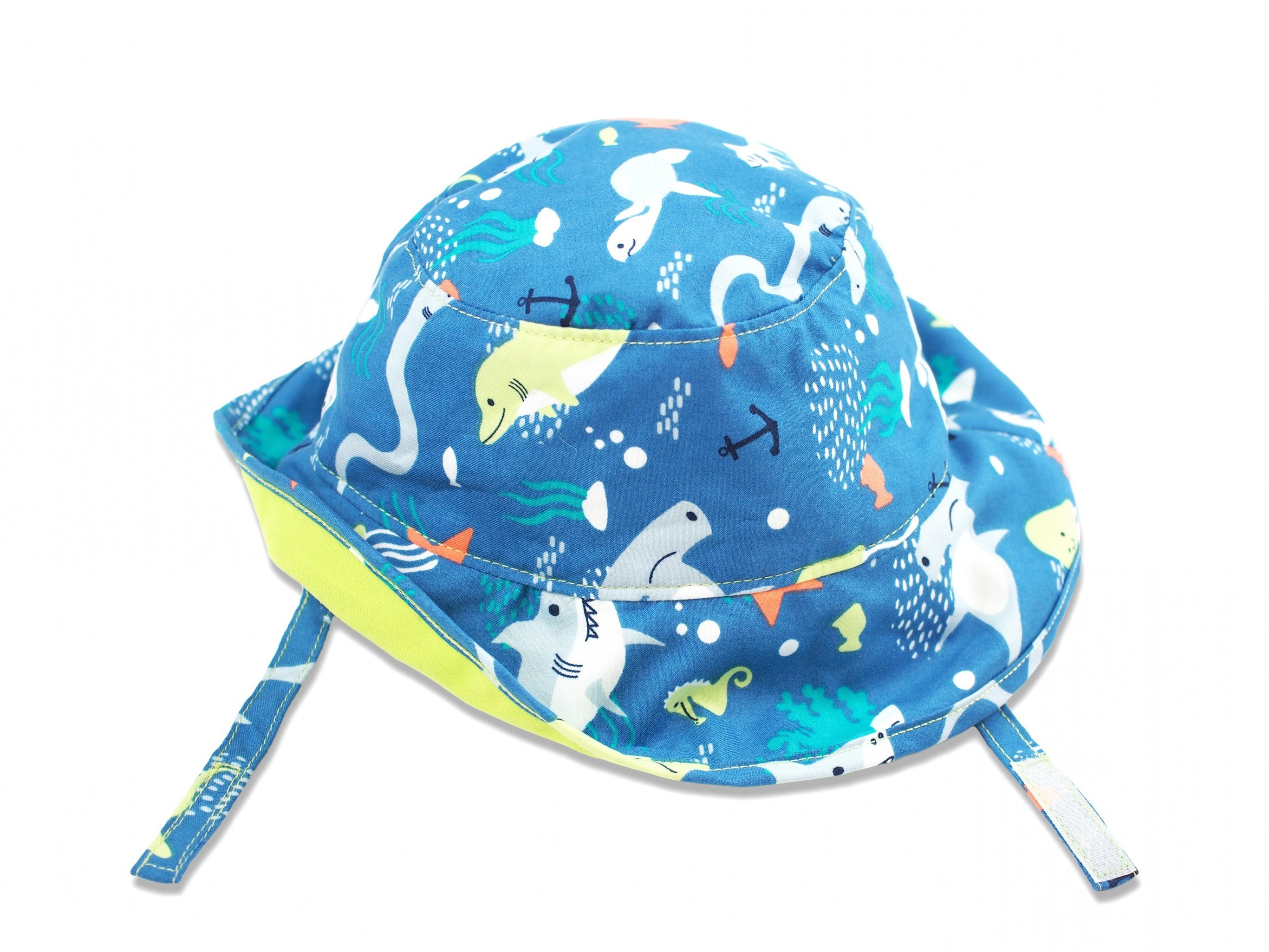 Octopus Sun Protective Bucket Hat, Lime