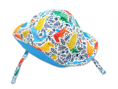 Dino Sun Protective Bucket Hat, Blue