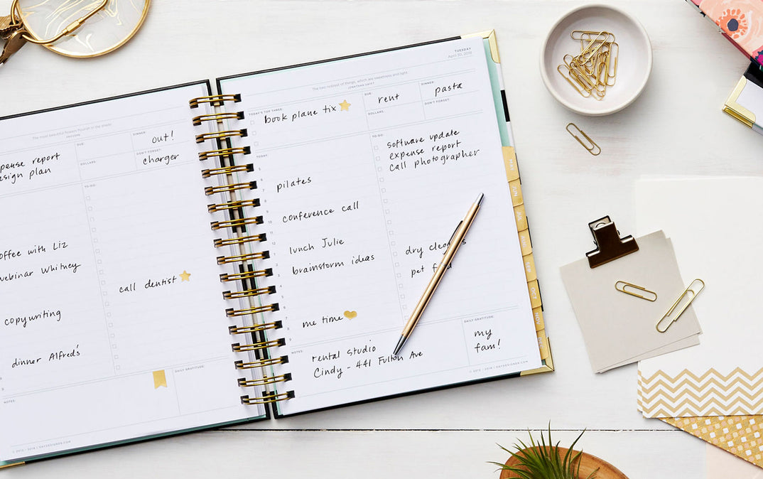 Intrepid image with day designer planner