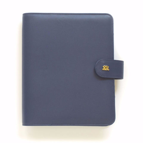 A5 Leather Binder: Neat & Tidy Navy