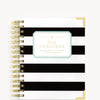 January 2020 Mini Weekly Planner:  Black Stripe