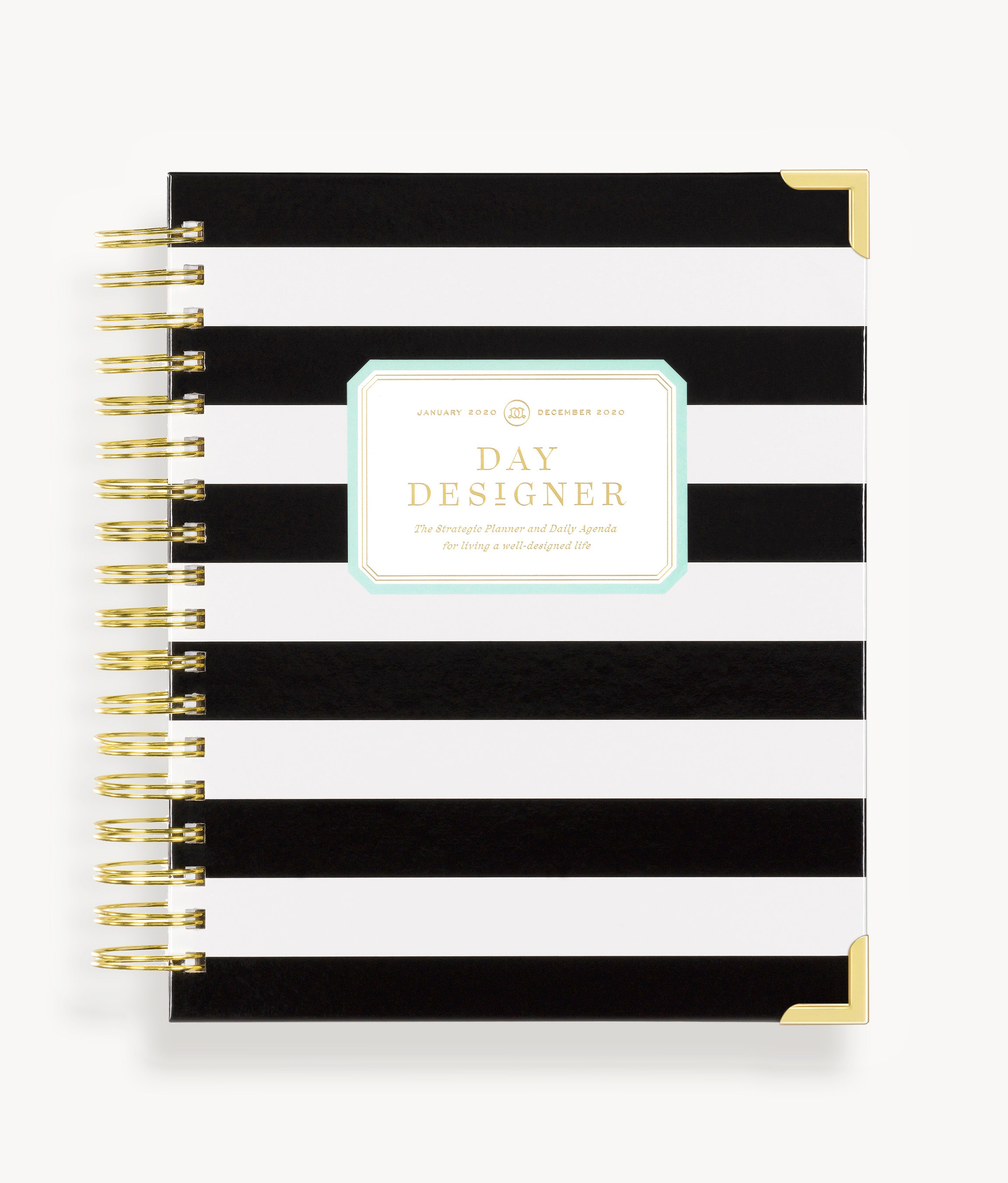 graphic about Daily Agenda referred to as January 2020 Everyday Planner: Black Stripe