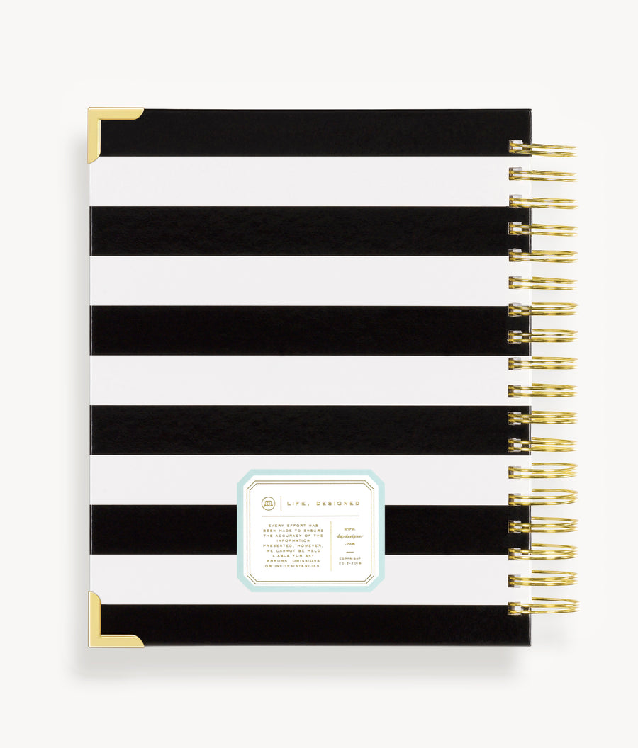 January 2020 Weekly Planner: Black Stripe