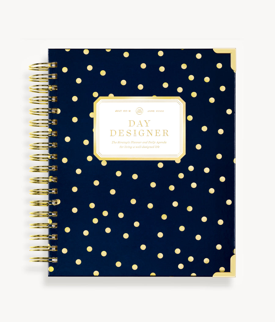 January 2020 Daily Planner:  Playful Polka Dot