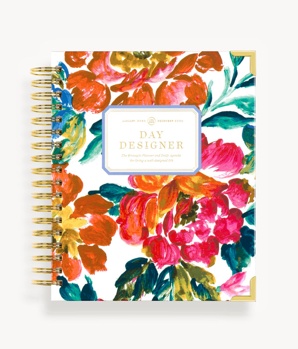 January 2020 Daily Planner:  Vintage Floral