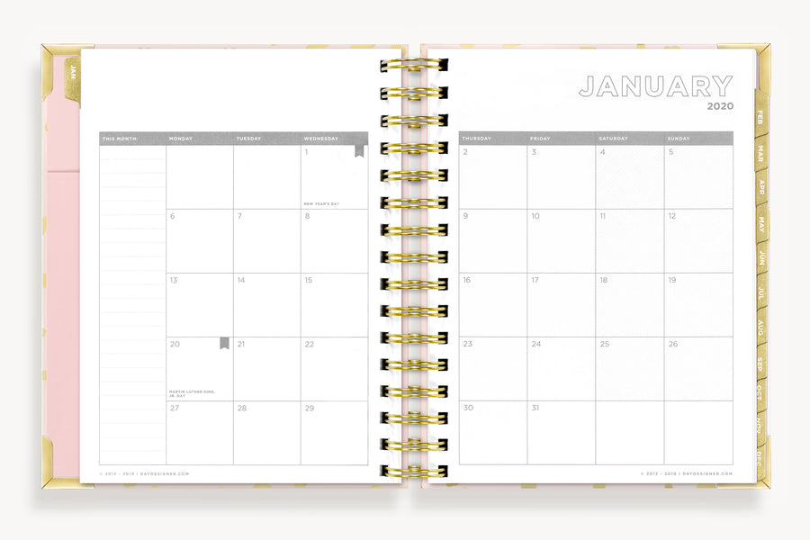 January 2020 Mini Daily Planner:  On The Prowl