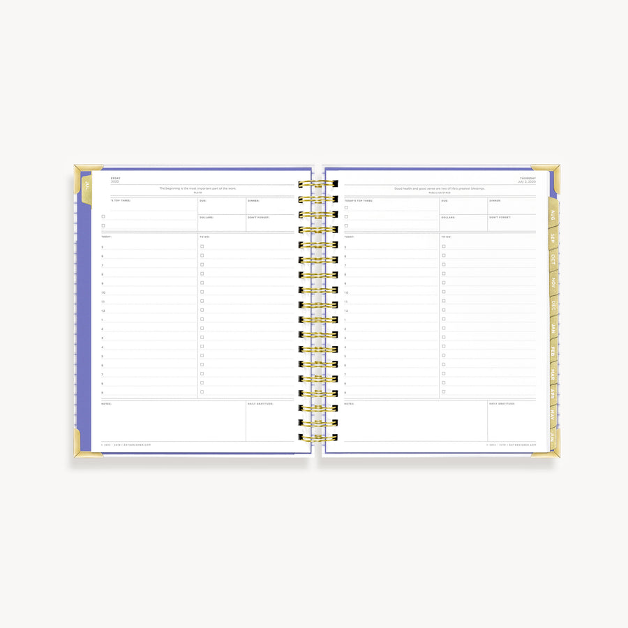 Academic Year 2020-2021 Daily Planner: Ticking Stripe