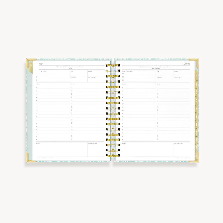 Academic Year 2020-2021 Daily Planner: Enchanted Forest