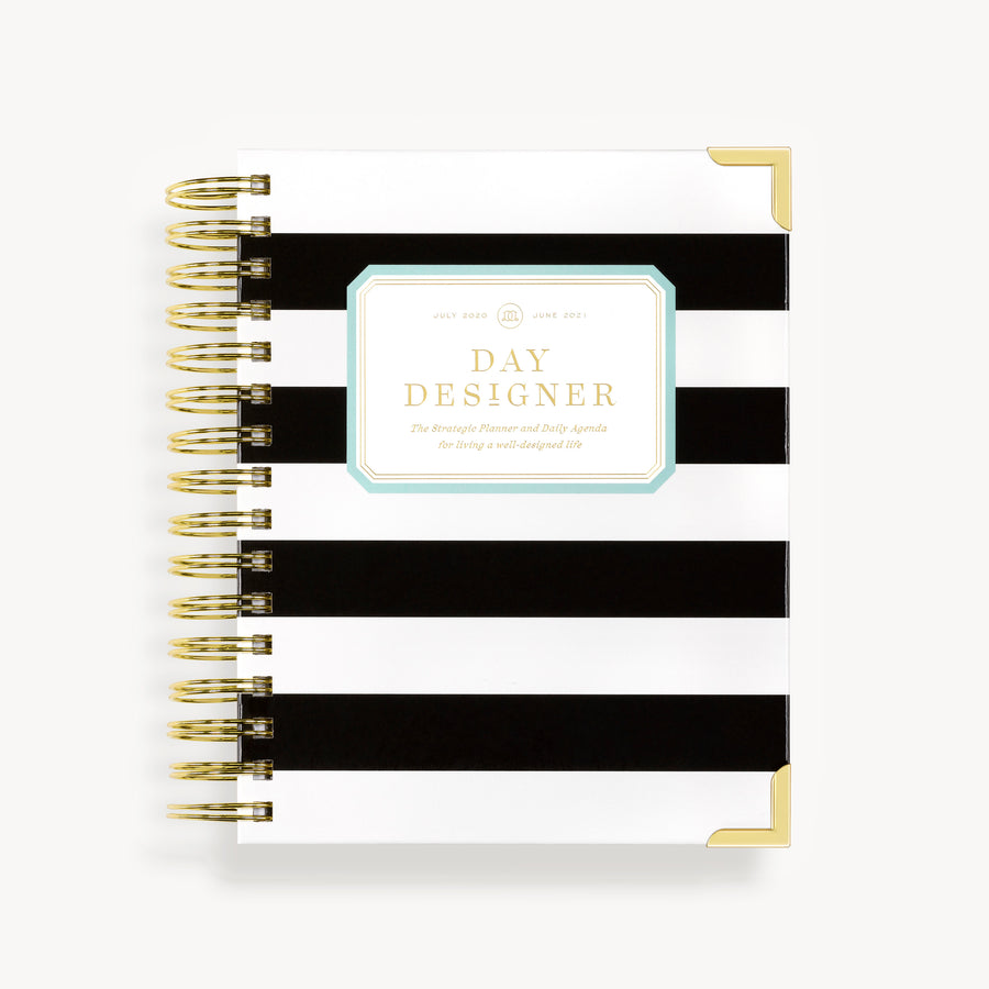 Academic Year 2020-2021 Mini Daily Planner: Black Stripe