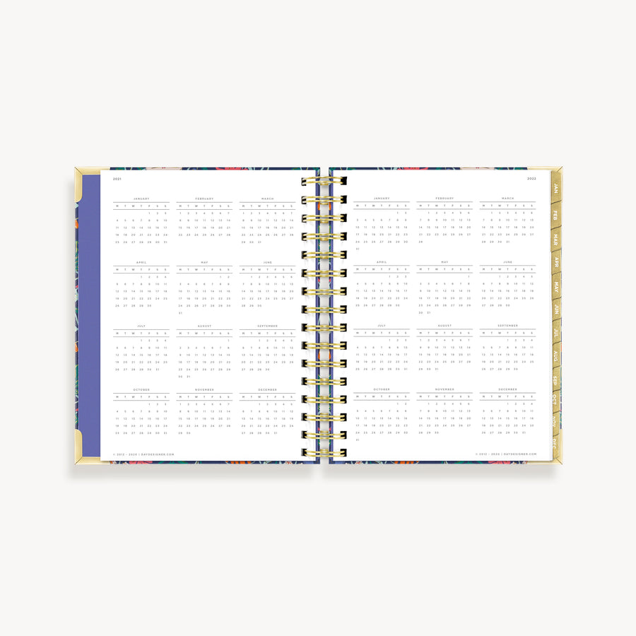 2021 Mini Weekly Planner: Wildflowers