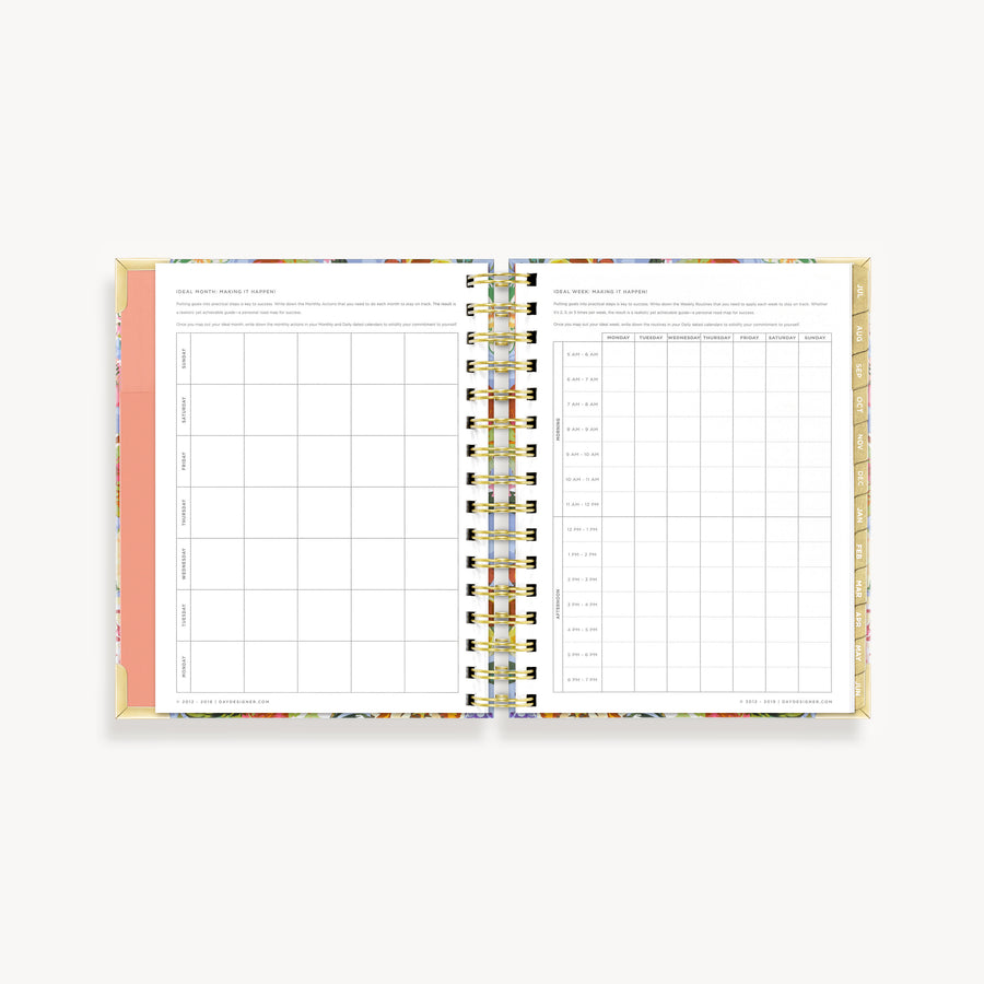 Academic Year 2020-2021 Mini Daily Planner: Bouquet