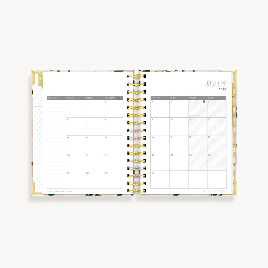 Academic Year 2020-2021 Mini Daily Planner: Coming Up Roses