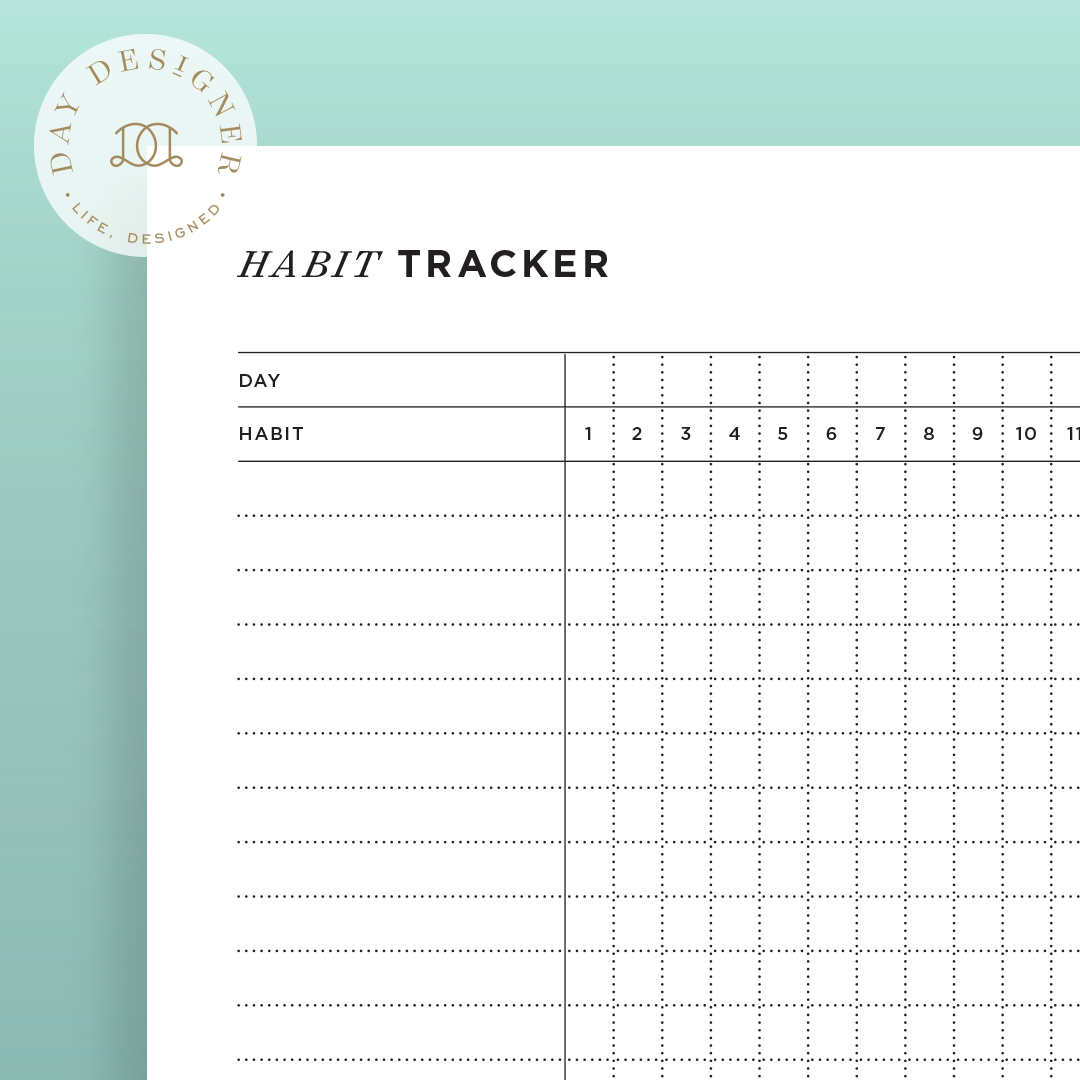 It's just a photo of Monthly Habit Tracker Printable within monthly expense