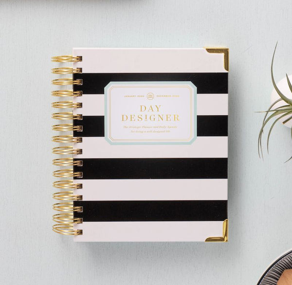 2021 Mini Daily Planner: Black Stripe