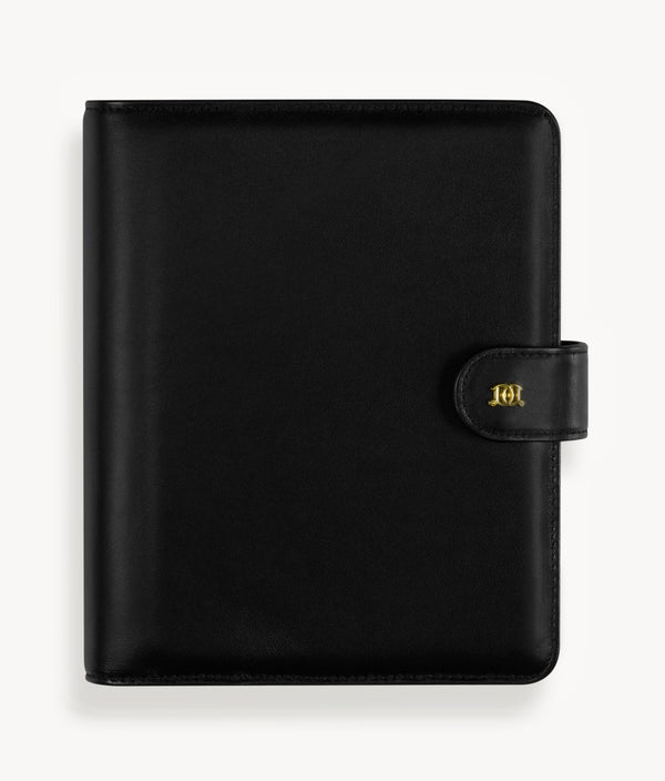 A5 Leather Binder: Classic Black