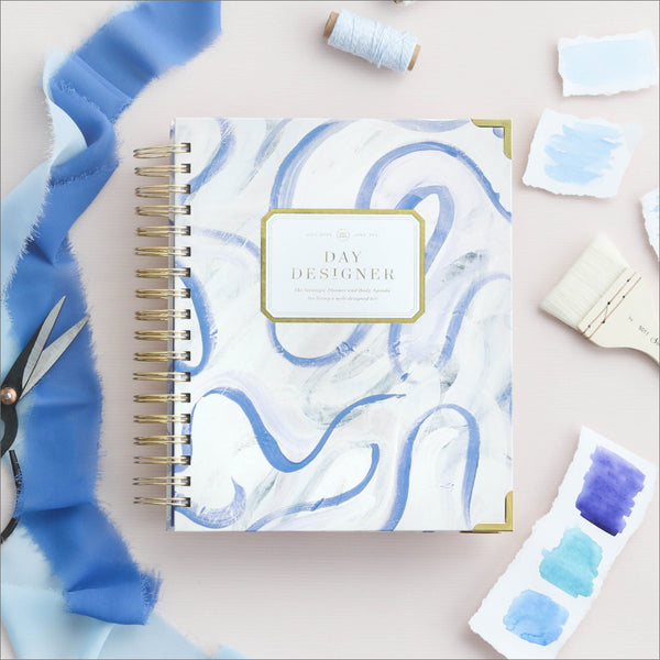 Academic Year 2020-2021 Daily Planner: Painted Ribbon
