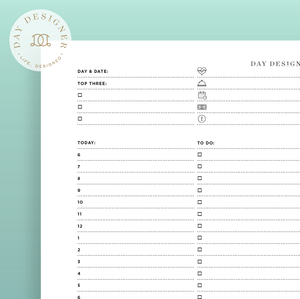 photo regarding Printable Planners called Printables Working day Designer