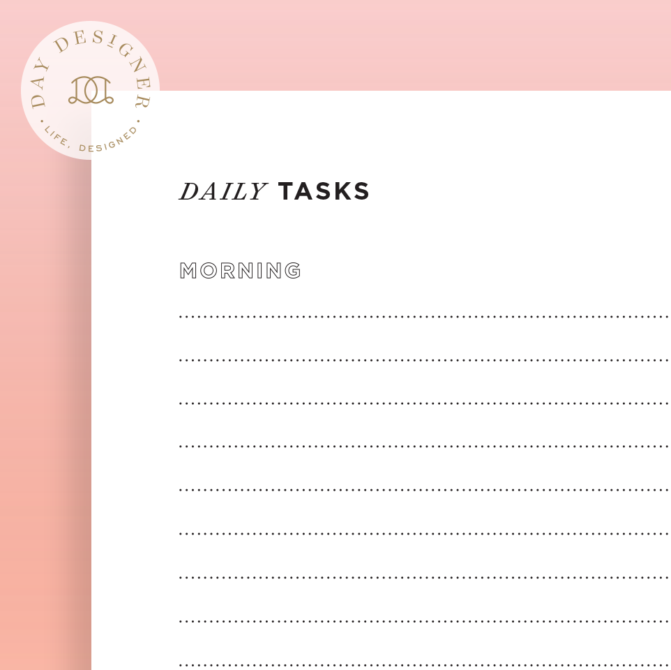 Daily Tasks Checklist – Day Designer