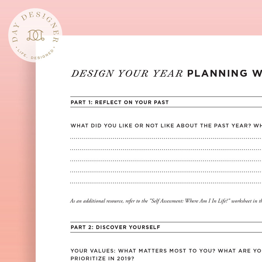 Design Your Year Planning Worksheet