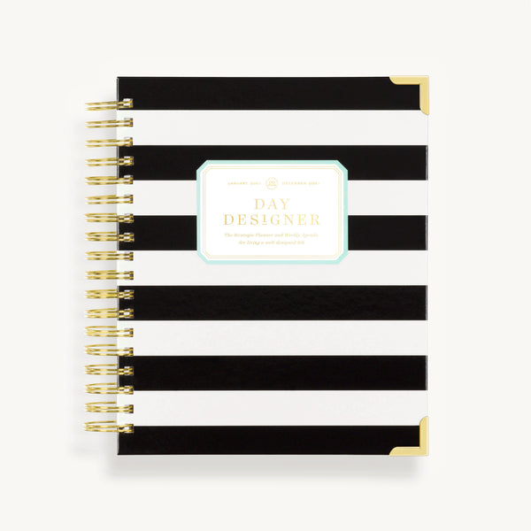 2021 Weekly Planner: Black Stripe