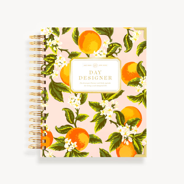 2021-2022 Daily Planner: Orange Blossom